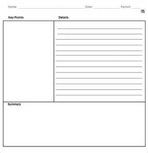 cornell note taking template word cornell notes template 51 free word pdf format
