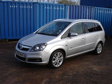 vauxhall zafira 7 seater estate car for sale knw