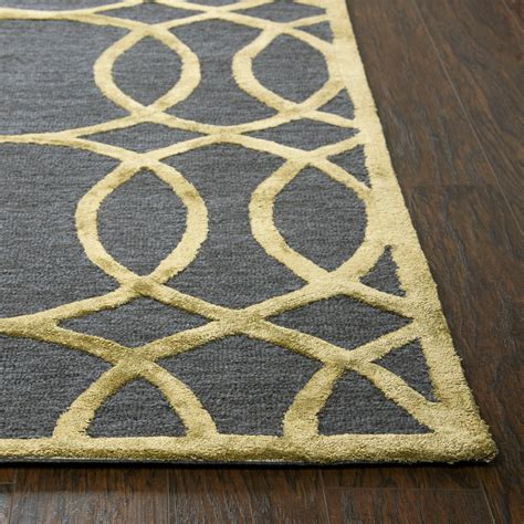 Circular Area Rugs Circular Trellis Wool Area Rug In Blue Gold 8 X 10