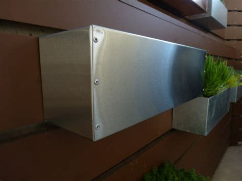 hanging planter box stainless steel hanging planter box horizontal fence planter