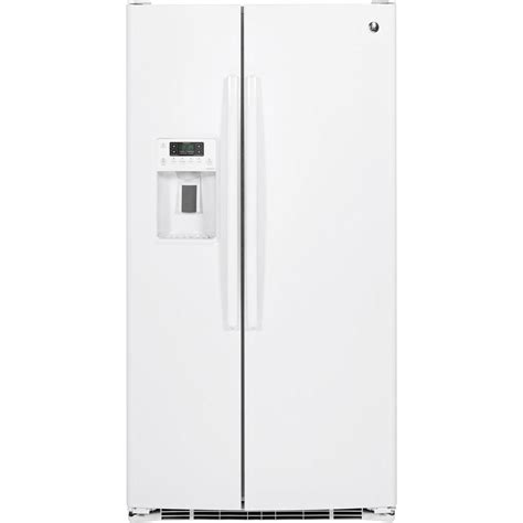 ge adora ge adora 25 4 cu ft side by side refrigerator in white