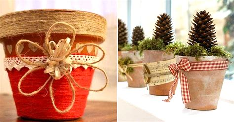 vasi di terracotta decorati vasi di terracotta decorati per natale 20 idee tutorial