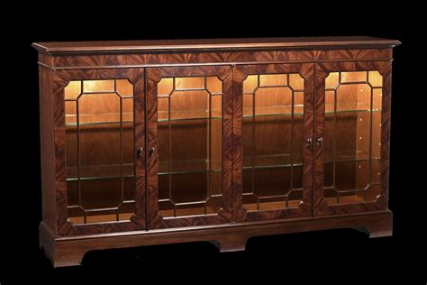 Sideboard Cabinet With Glass Doors mahogany sideboard display cabinet paned glass doors