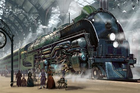 wallpaper engine not in steam library train railroad tracks locomotive engine tractor railway
