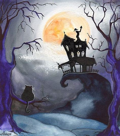 house painters brton halloween night haunted houses and black cats on pinterest