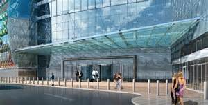 Commercial Metal Awning Entrance Canopy Stainless Steel Glass Canopy