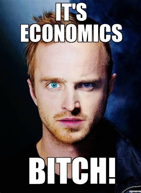 Jesse Meme - jesse pinkman it s economics bitch weknowmemes