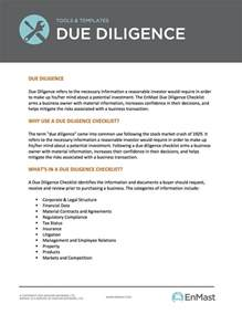 aima due diligence questionnaire template due diligence checklist