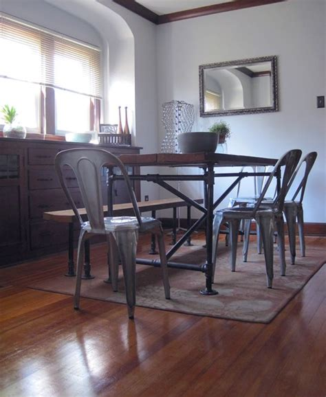 Diy Industrial Dining Room Table Best 25 Pipe Table Ideas On Pinterest Diy Table Legs Industrial Table And Diy Pipe