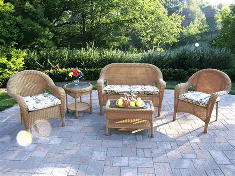 cheap wicker patio furniture home interior decoration idea
