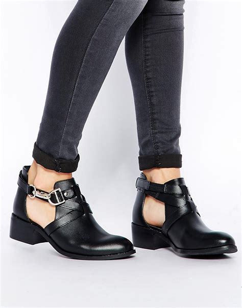 cut out ankle boots asos asos apollo leather cut out ankle boots at asos