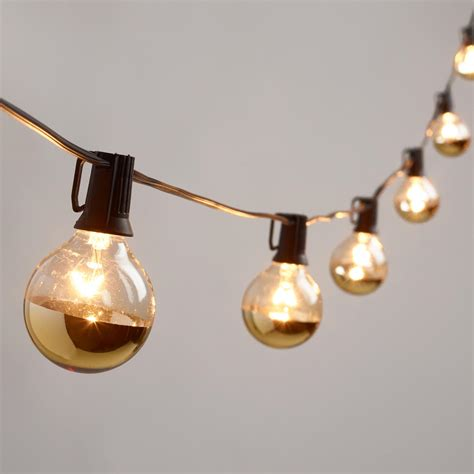 Gold String Lights Gold Dipped Glass Orb 20 Bulb String Lights World Market