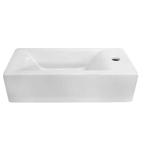 small rectangular bathroom sink alfi brand ab108 small white modern rectangular wall