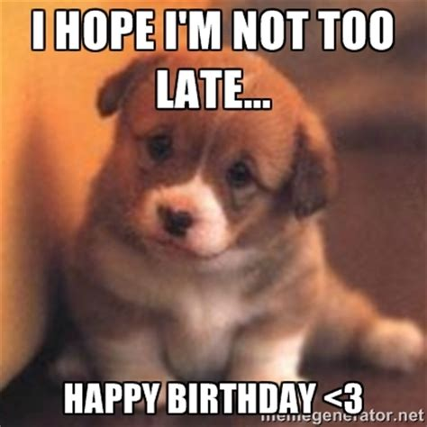 Happy Belated Birthday Meme - cute happy birthday meme funny dogs pictures happy