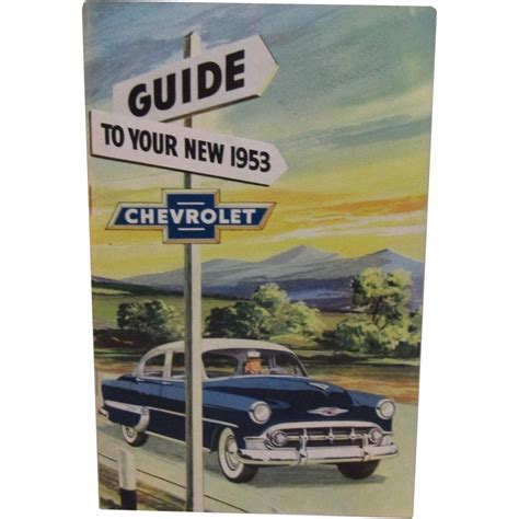 chevrolet owners manual 1953 chevrolet owner s manual from ssmooreantiques on ruby