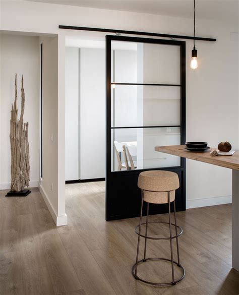 Sliding Glass Doors Interior 10 Exles Of Barn Doors In Contemporary Kitchens Bedrooms And Bathrooms Contemporist