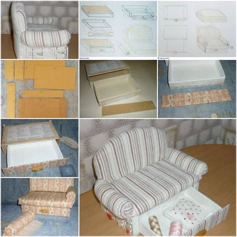 diy upholstery instructions how to make cardboard sofa with drawer storage unit step