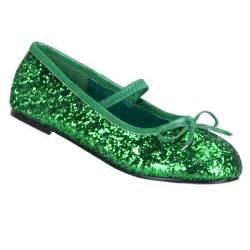Girls glitter green shoes costume craze