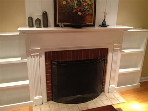 ana white fireplace facelift built  bookcases diy