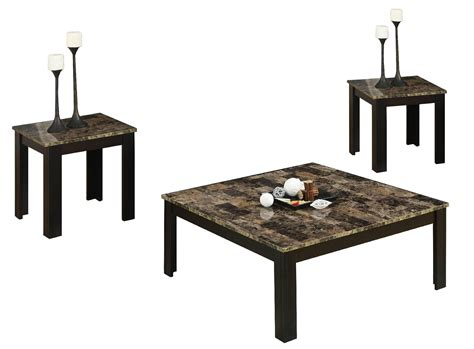 3pcs 1 2 Faux Marble Square Coffee Table Wd 4204 Square Marble Coffee Table