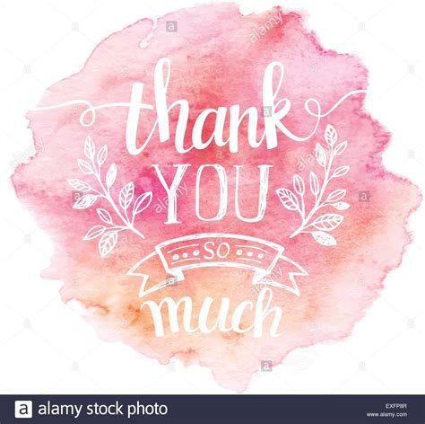 watercolor thank you card template thank you so mach lettering watercolor background