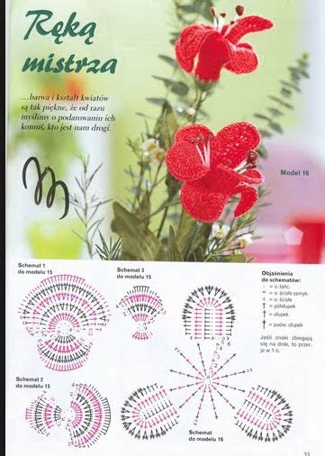 Kruissteek Kristik Orchid Motif Bunga 5 orchidee crochet crochet flower flowers and crochet