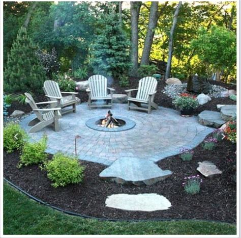 backyard patio landscaping ideas firepit outdoors pinterest exteriores de casas