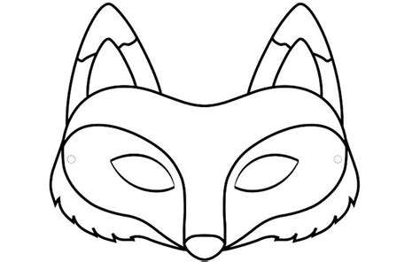 Coloring Page Of A Fox Face | free coloring pages of fox face mask