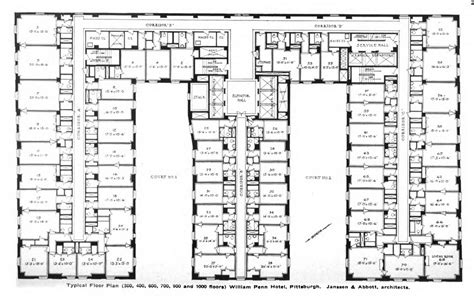 Typical Hotel Floor Plan | file william penn hotel typical floor plan jpg