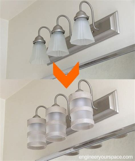 Diy Bathroom Light Fixtures Diy Bathroom Lighting Fixture Makeover Hometalk