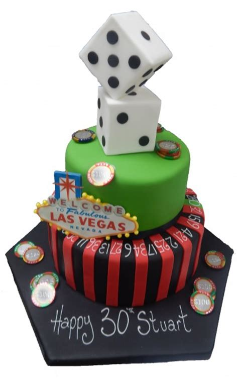 roulette vegas tiered cake birthday celebration male female travel
