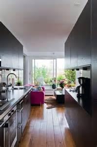 aucune perte de place avec cette cuisine couloir ouvrir