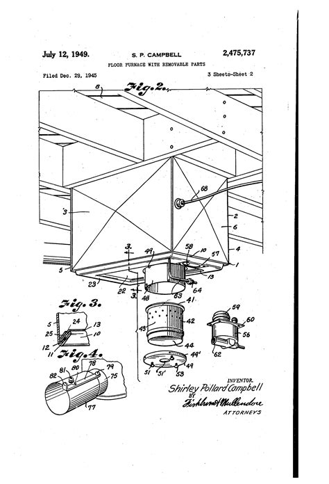 patent us2475737 floor furnace with removable parts