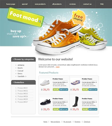 templates for bookstore templates for a shoes stores websites drawing inspiration