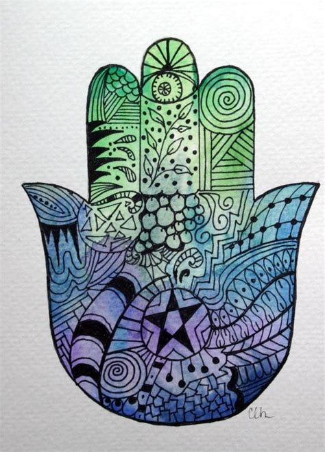 watercolor zentangle tattoo watercolor card n0 74 zentangle card zentangle