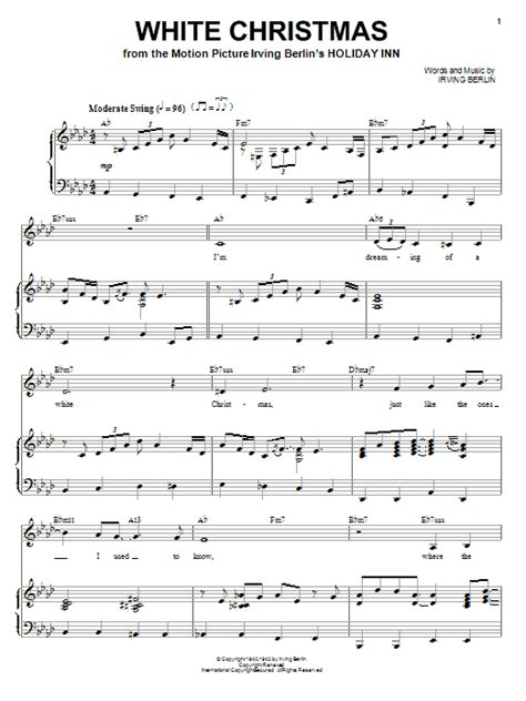 white christmas sheet music by ella fitzgerald piano