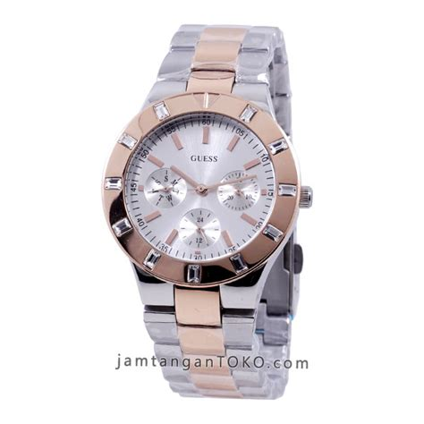Jam Tangan Wanita Guess Merica Silver Grade harga sarap jam tangan guess glisten two tone w14551l1