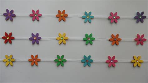 flower craft with paper paper craft flower chain bookmarks
