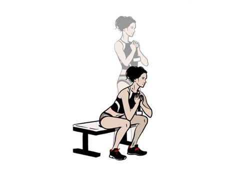 squat on bench dumbbell workout goblet low box squat women s health