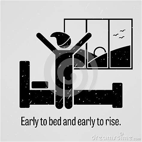 Early To Bed Early To Rise by Early To Bed And Early To Rise Stock Vector Image 50880961