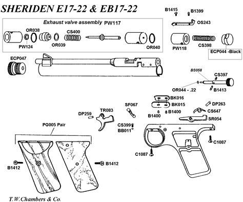 Seal Sharp Barrel eb17 airgun spares chambers gunmakers