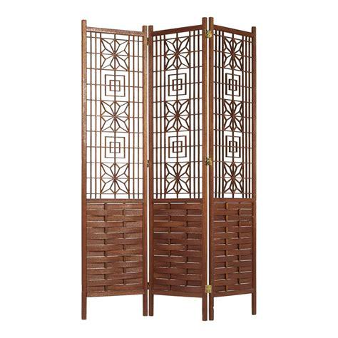 Wooden Screen Room Divider Ornate Latticed Wooden Folding Screen Room Divider Circa 1960s At 1stdibs