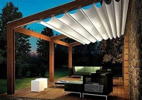 pergola dach terrassenüberdachung pergola aus holz mit stoffdach cobertura