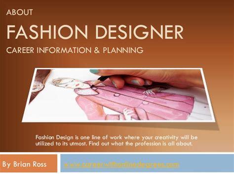 fashion design facts about fashion designer career information planning