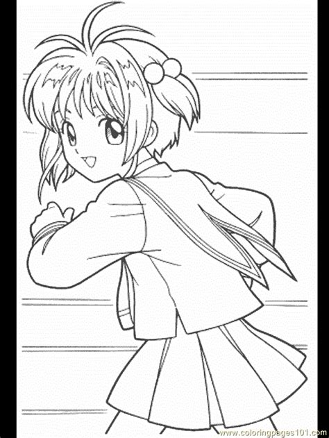 card captors coloring pages 35 coloring page free