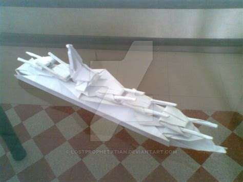 How To Make A Paper Battleship - origami battleship by lostprophetxtian on deviantart