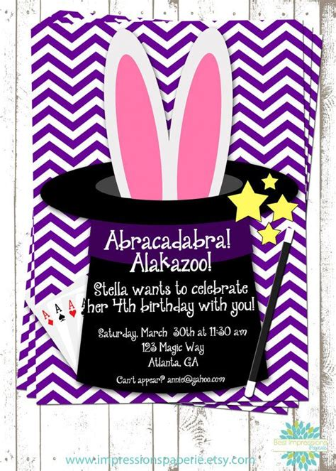 free printable birthday invitations magic theme 30 best images about magic show on pinterest birthdays