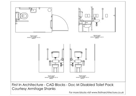 Toilet Layout Cad Block | cad blocks doc m disabled toilet architecture