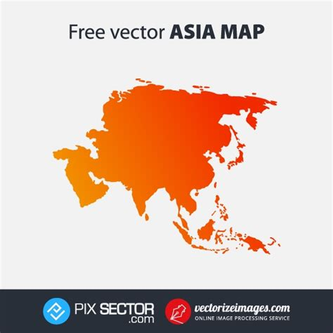 free vector map 2 asia map free vector pixsector
