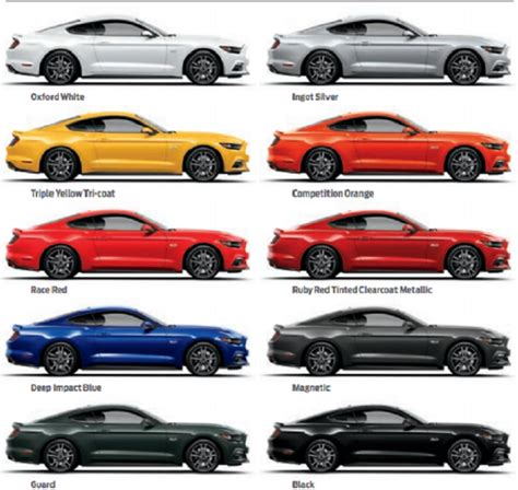 2016 ford mustang colors ford mustang